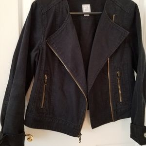 Long sleeve navy denim jacket